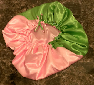 large satin bonnets