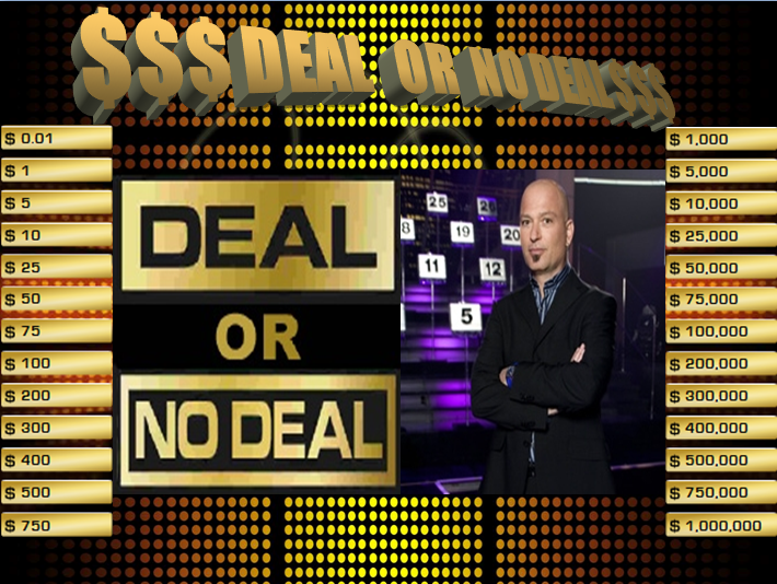 The computer lab teacher deal or no deal powerpoint game for Deal review template