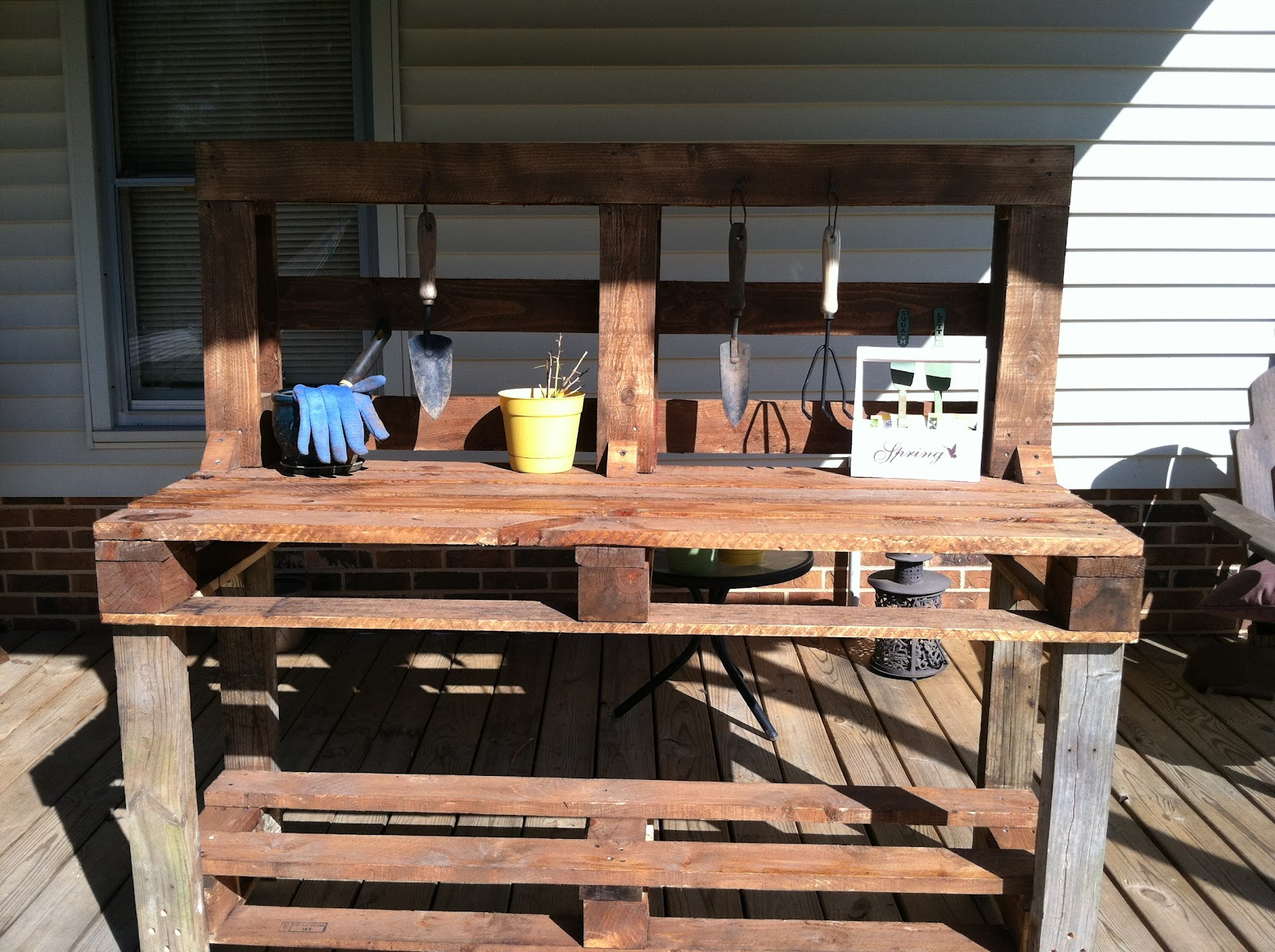 the son rises new garden work bench