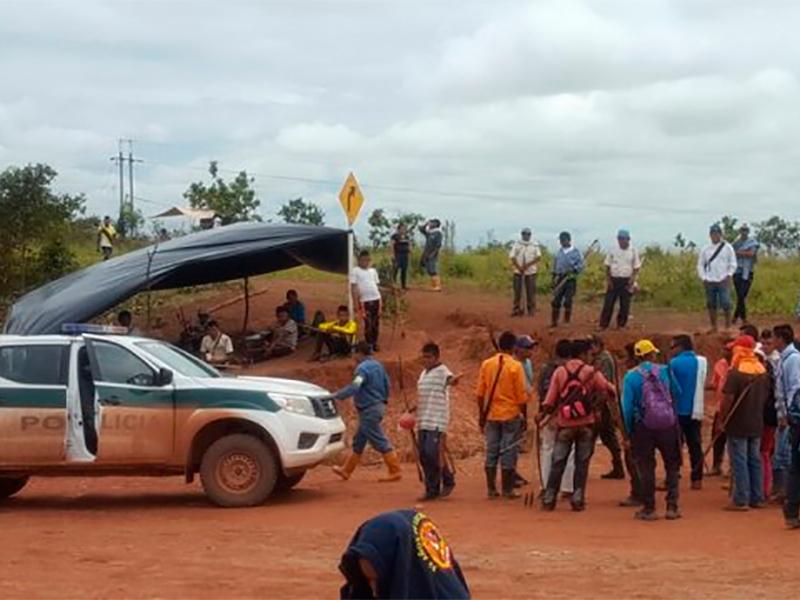 USO acompaña protesta de comunidades indígenas en Campo Rubiales