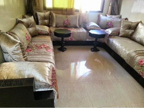 ديكورات غرف جلوس المغربية