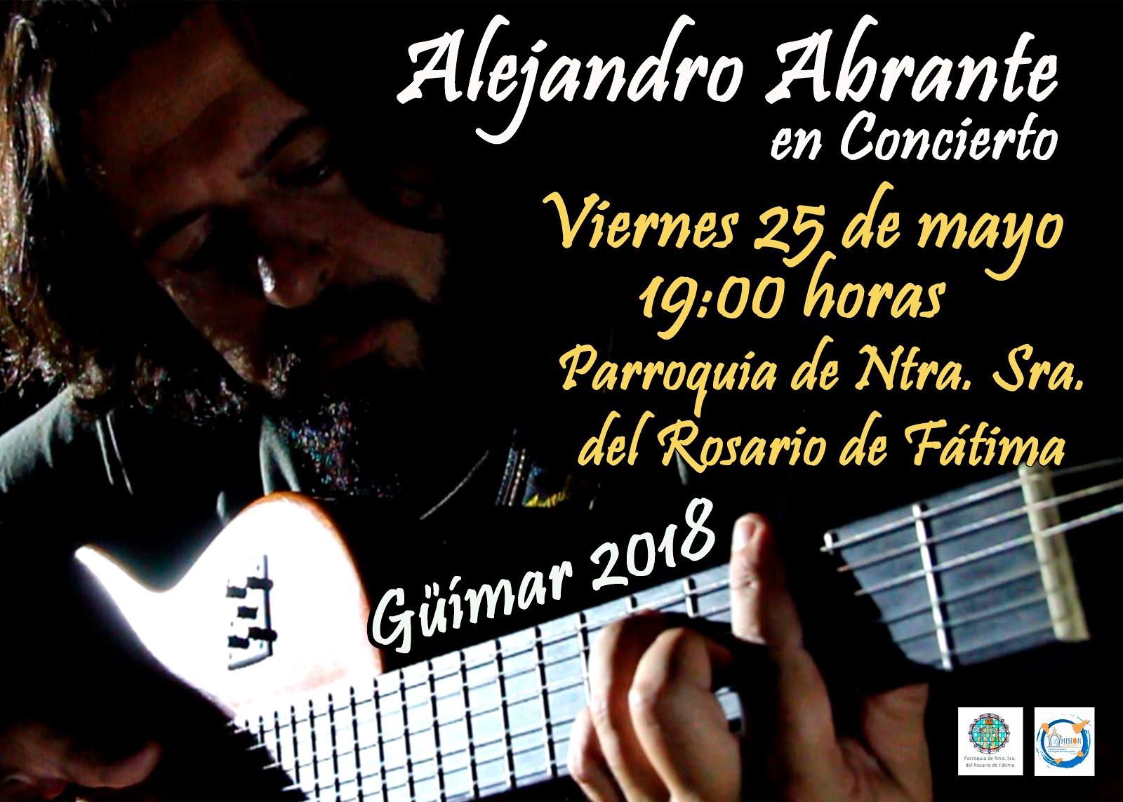 Concierto de Alejandro Abrante. Pincha en el Cartel