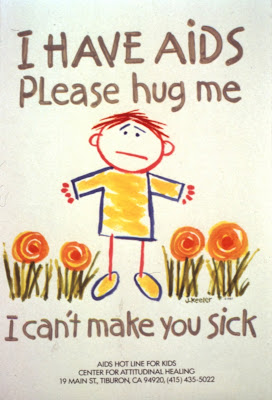Campaña SIDA VIH I Have AIDS Please Hug Me 1987