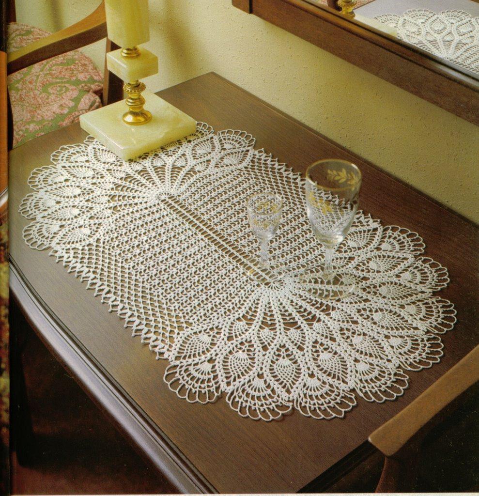 Kad nlar moda dekorasyon yatak odas dantelleri salon - Centro de mesa a crochet ovalado ...