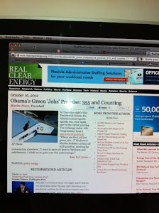 October 16, 2012: Green Corruption Research makes it on Real Clear Energy