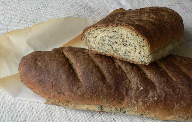 Whole Wheat Spinach Bread recipe