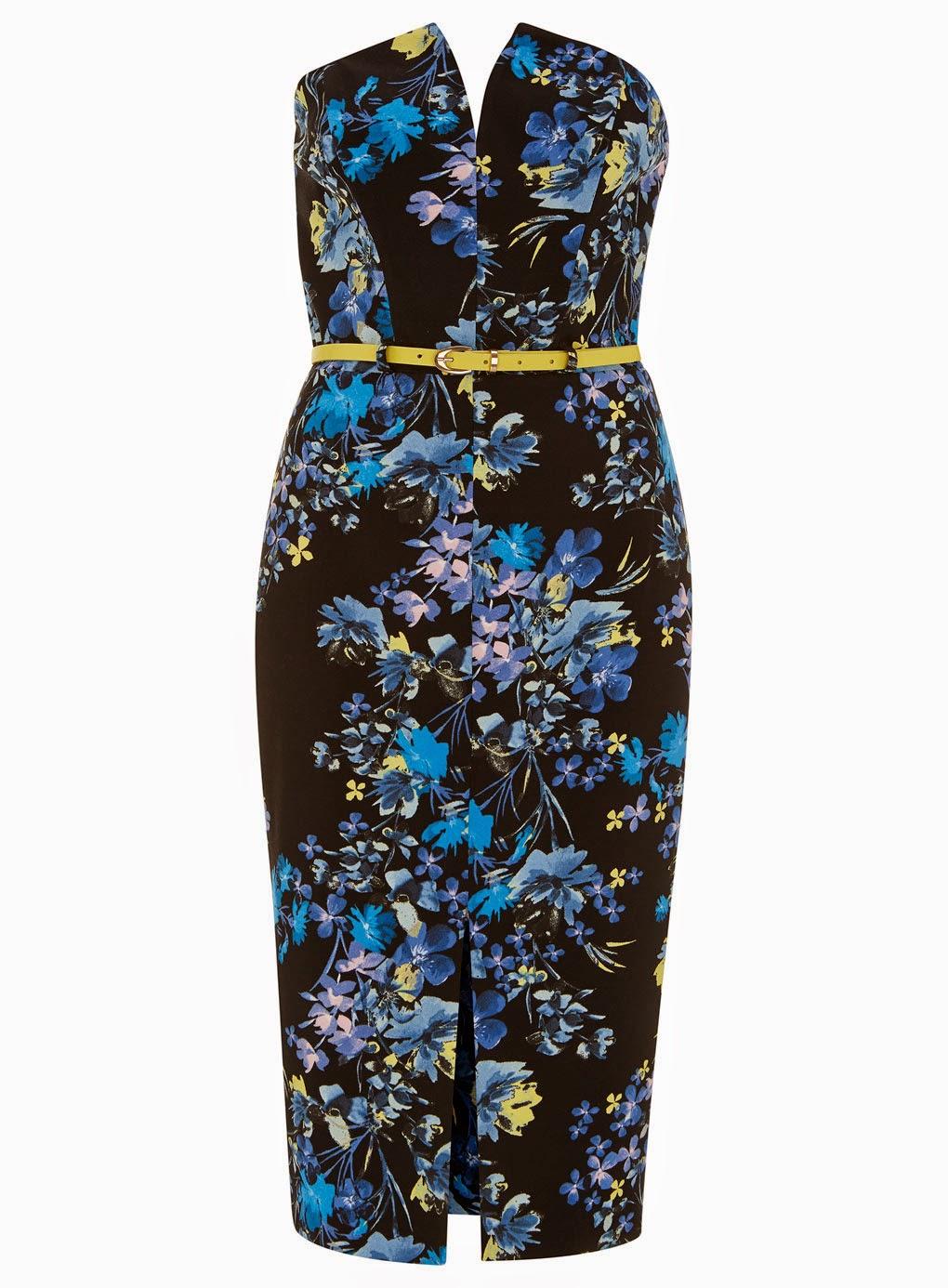 black and blue floral dress, floral sleeveless dress, miss selfridge floral dress,