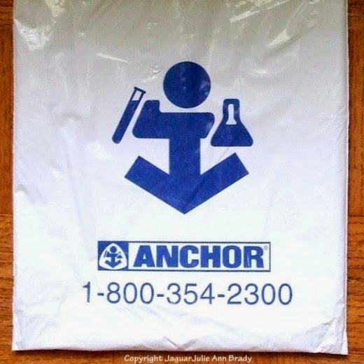 reflex blue logo of Anchor on Plastic Bag