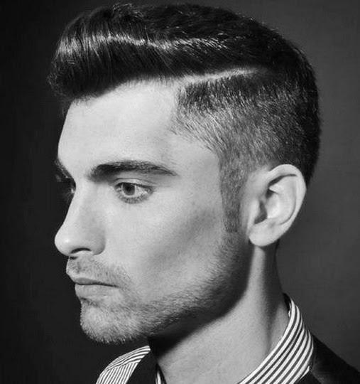 gaya rambut rockabilly pria tampak samping