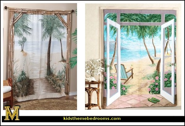 Beach Themed Kitchen Curtains Sports Themed Window Curtains
