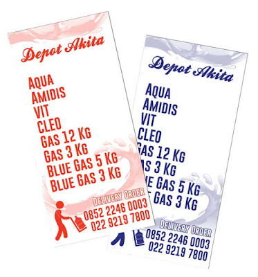brosur depot air satu warna