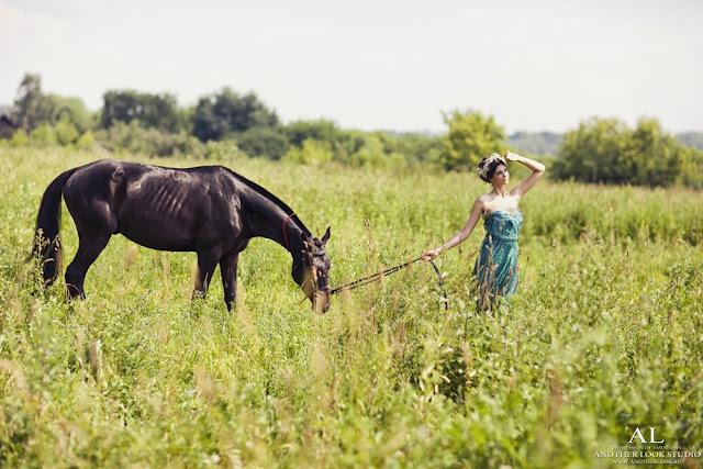 фотосессия лошадки