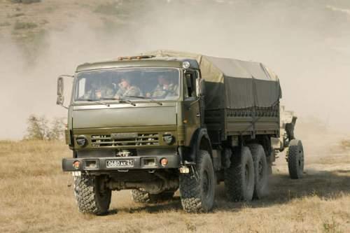 truk pembawa Howitzer
