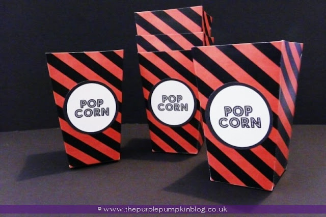 Halloween Snack Popcorn Boxes at The Purple Pumpkin Blog