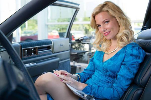 You would definitely buy a Cadillac from Elizabeth Banks