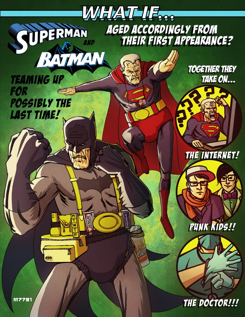 what if... superman and batman aged according to their first ...