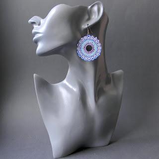 купить украшения подарок девушке круглые серьги из бисера украина