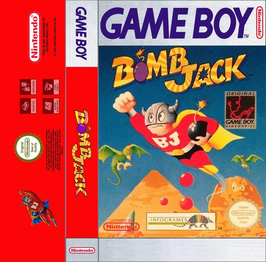 Solo Una Partida Mas Bomb Jack Game Boy Cassette Cover