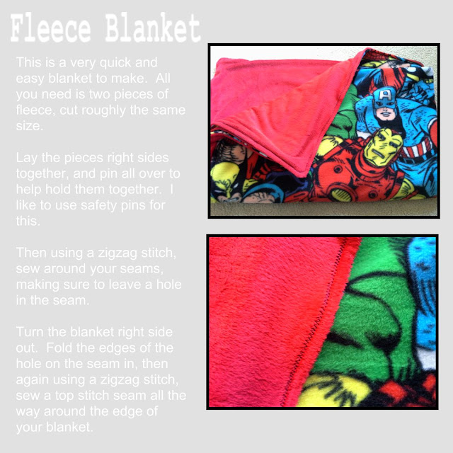 easy fleece blanket