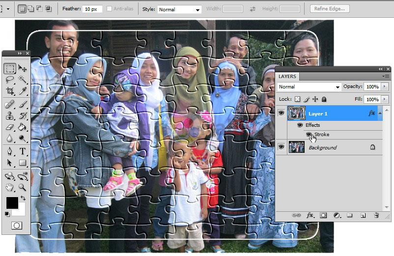 Cara membuat puzzle dengan photoshop