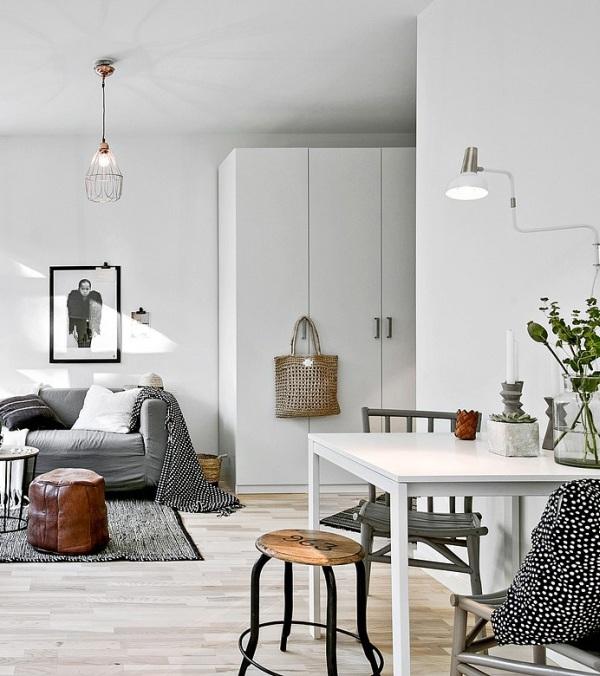 Piccoli spazi stile scandinavo versione mini 34mq con for Arredamento scandinavo vintage