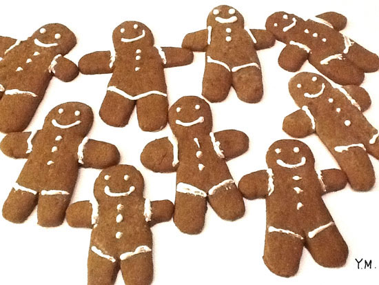 Gingerbread men par Yukié Matsushita