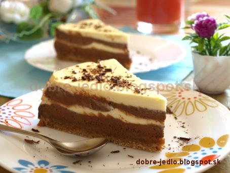 Dvojfarebná tvarohová torta - recepty