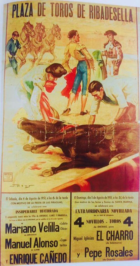 toros en Ribadesella 1951