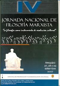IV JORNADA NACIONAL DE FILOSOFÍA MARXISTA