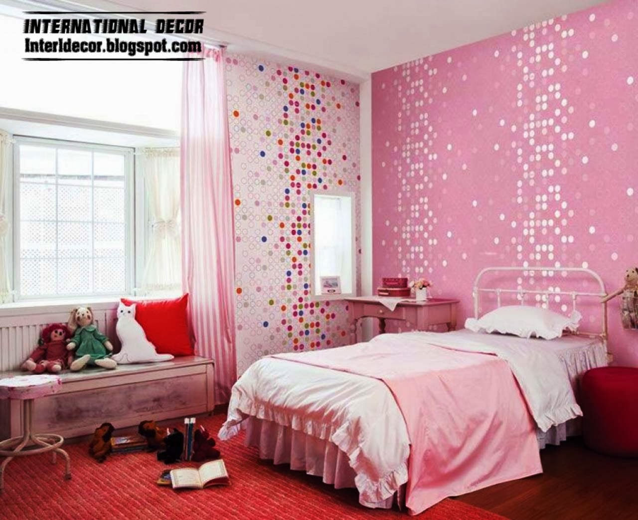 Pink Girls Bedroom   Inspire Pink Room Designs Ideas For - Girl bedroom decor ideas