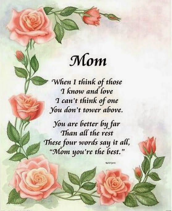 Best Happy Mother's Day 2014 Poems