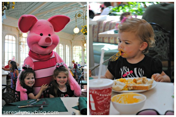 Magic Kingdom Character Dining, The Crystal Palace, via Serenity Now blog