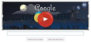 Animasi Google Doodle ulang tahun Claude Debussy ke-151