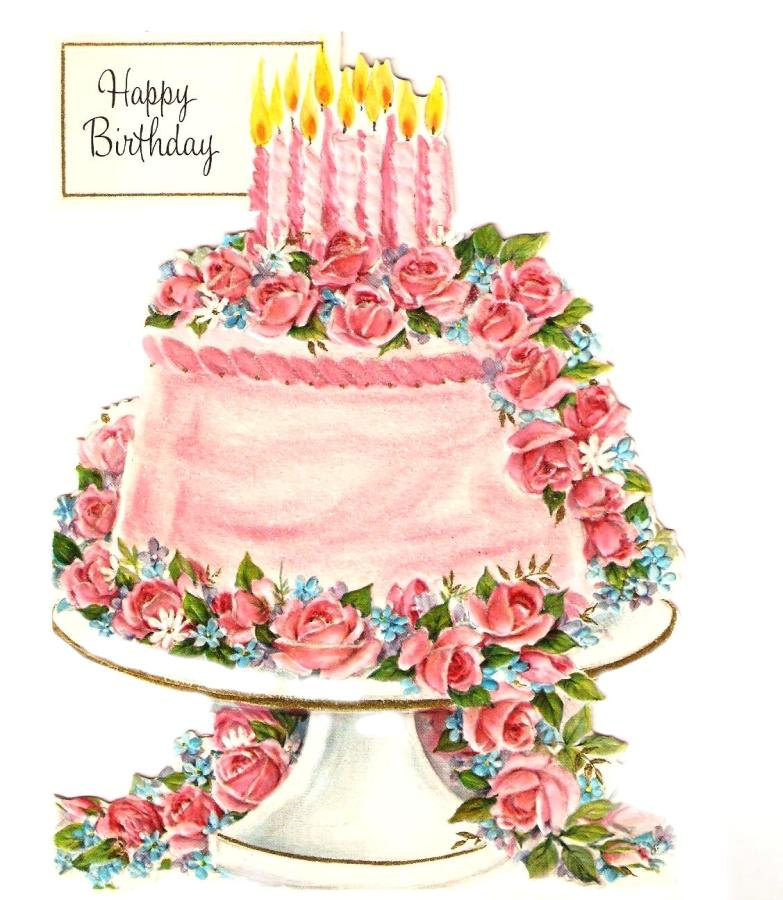 Vintage Birthday Cake Art Image Inspiration Of And