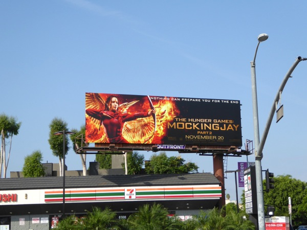 Mockingjay Part 2 movie billboard