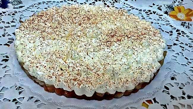 Pastel de peras con pan de molde
