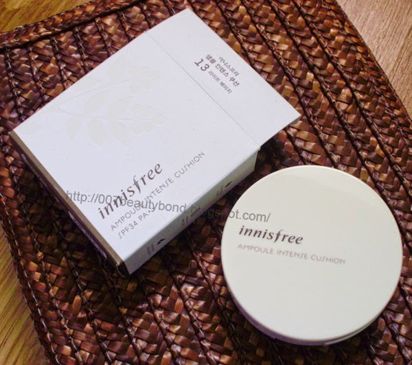 korean cushion foundation innisfree Ampoule Intense Cushion 13 light beige