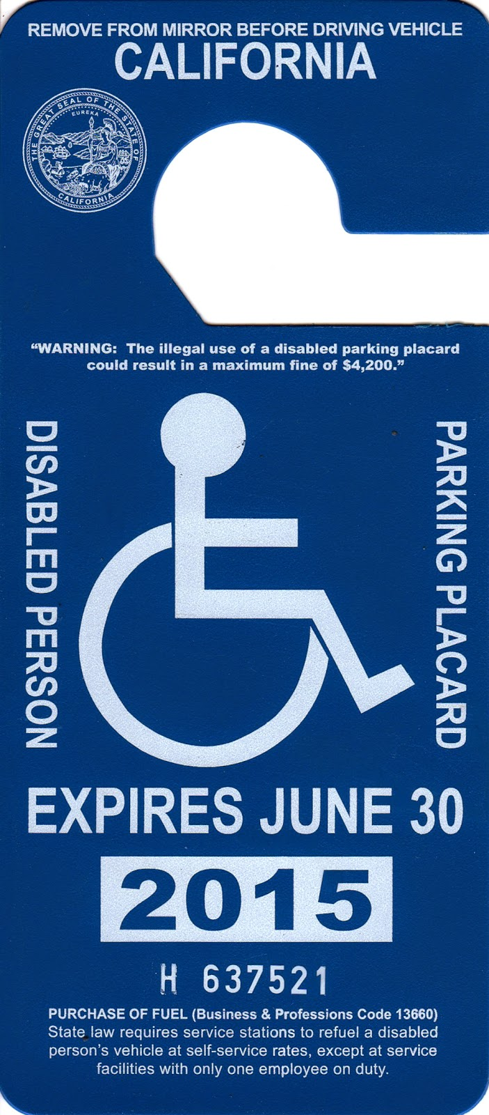 Krug's Studio: A Disabled Placard is NOT A Free Ride: How ...