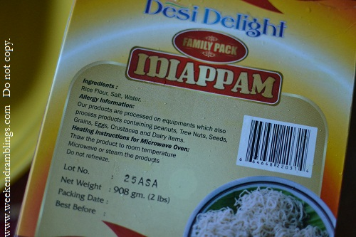 kerala food recipes idiyappam noolputtu