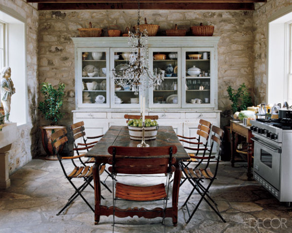 Rustic kitchen decor ideas wallpaper side blog for French chateau kitchen designs