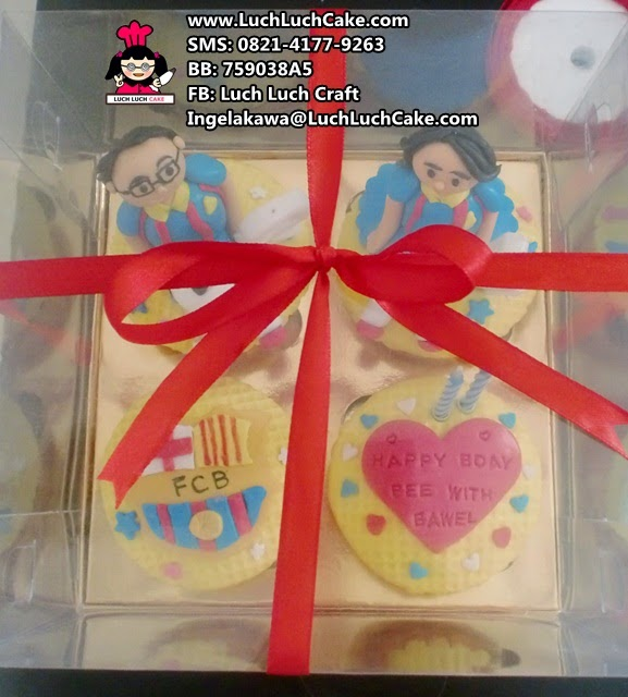 Cupcake ulang tahun tema barcelona