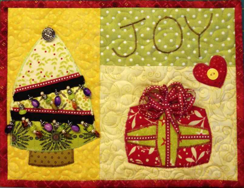 www.deniseclason.com, mug rug, Christmas
