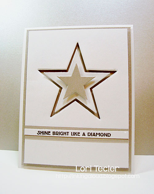 Shine Bright Like a Diamond card-designed by Lori Tecler/Inking Aloud-stamps and dies from Clear and Simple Stamps