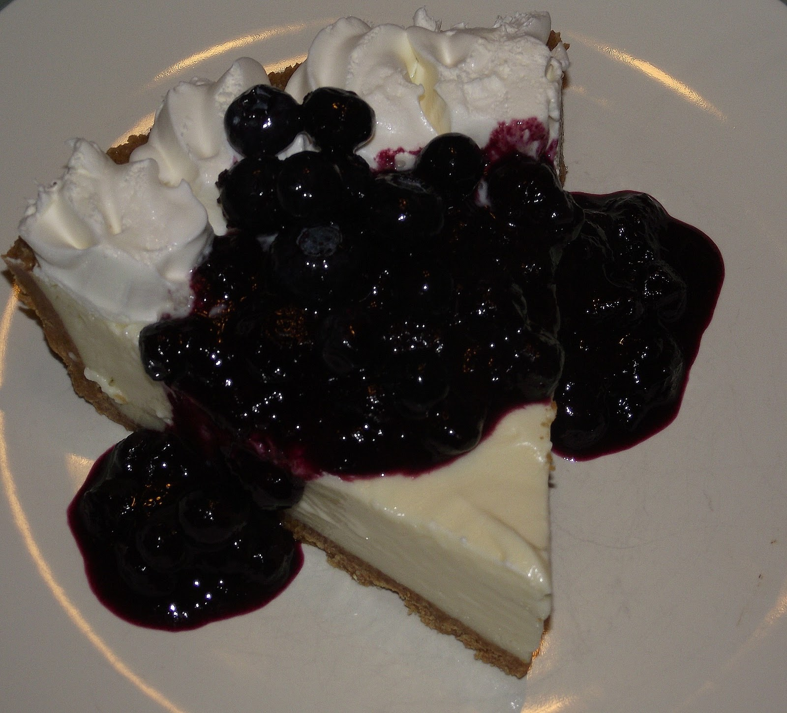 ... LIME CHEESECAKE with BLUEBERRY CARAMEL SAUCE ~ TRY A NEW RECIPE DAY
