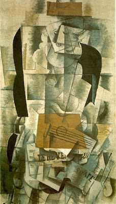 Georges Braque - Femme à la guitare,1913.