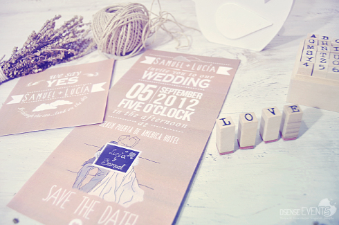 vintage and kraft wedding invitations