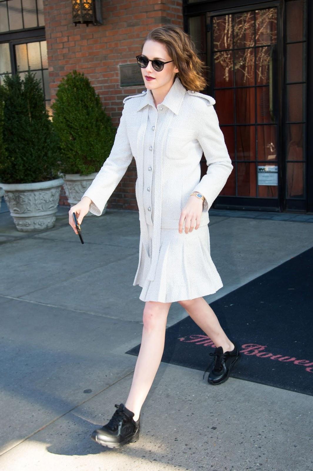 Kristen Stewart Leaves Hotel for 2016 Film Society in New York