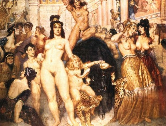 norman lindsay painting the gay victorians