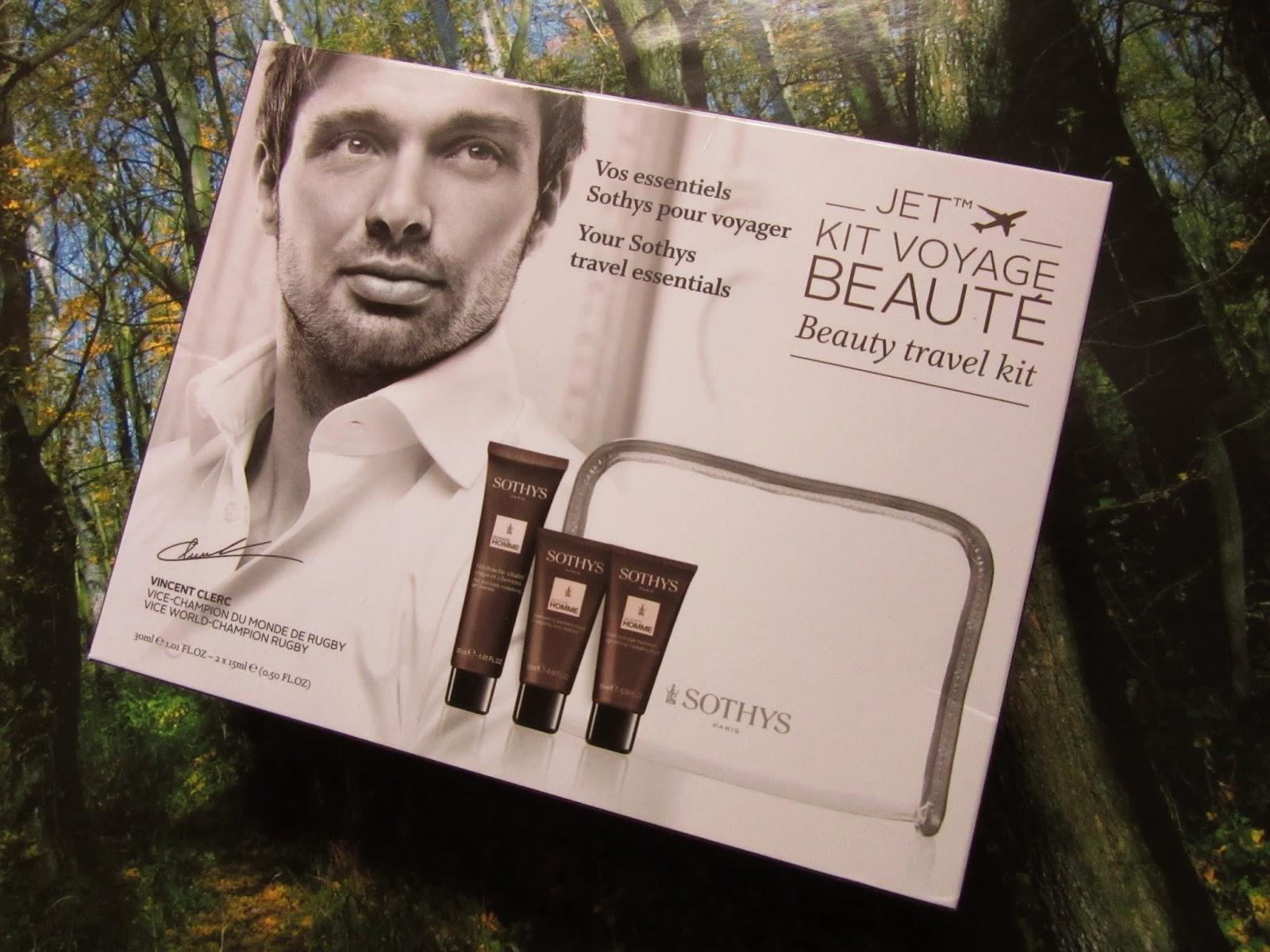 Sothys Paris Homme Beauty Travel Kit - cestovný set pre pánov