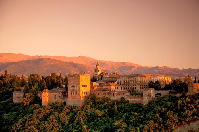 zonsondergang La Alhambra